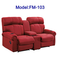 FM-103 Recliner fabric sofas design double seat cinema chair