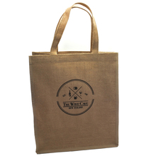 Tote packing gifts bag custom logo printed jute wine bags with PVC coated