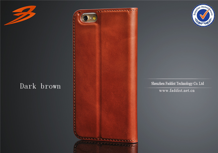 hot selling genuine cow leather case for iphone 6