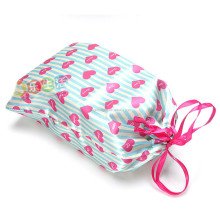 fashional ribbon satin gift bag