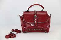 Huge popular adjustable rivet red ladies handbags in Europe