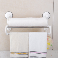1806 SQ suction cup stainless steel towel shelf bathroom towel rack towel holder