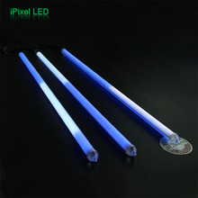 Madrix LED Meteor Light 3D effect for decoration in concert and Club, 360 degree RGB LED DMX pixel tube 3d vertical tube