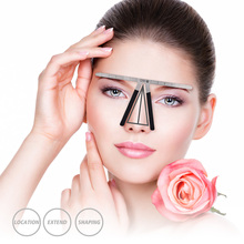 Permanent Makeup Tattoo Eyebrow Eyeliner Template Ruler Measure Tool 3D Metal Eyebrow Balance Ruler Shaping Stencil Makeup Tools