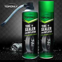 Tire sealer and inflator car tire repair spray