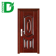 Iron steel security metal door interior steel security doors cheap security door