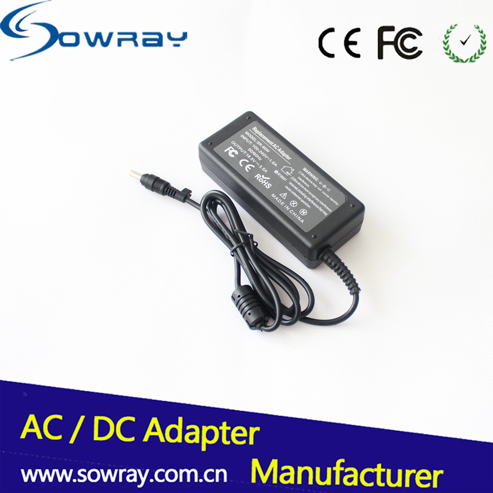 65W Laptop Charger 18.5V 3.5A 4.8*1.7 Yellow Tip Replacement AC Adapter For HP DV2000/DV6000
