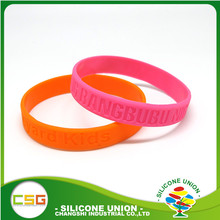 Top sale cheapest colorful debossed silicone bracelet maker