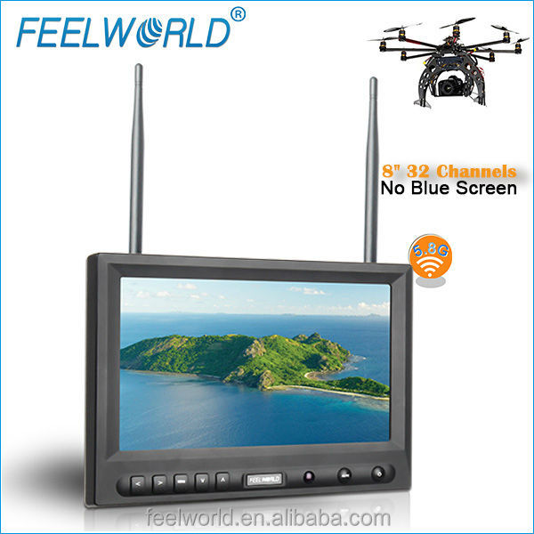 FEELWORLD 8inch wireless av monitor used for camera and cctv <strong>security</strong> FPV819DT