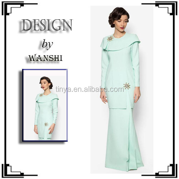 Latest modern muslim dress baju kurung 2016