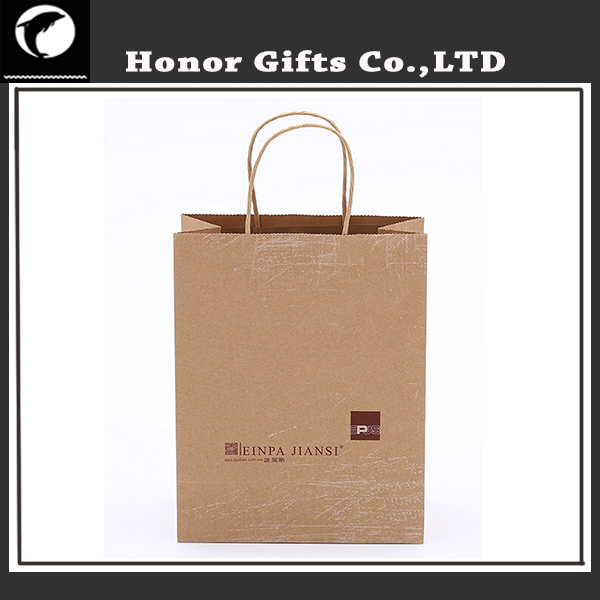 Wholesale Price Customized Brand Kraft Paper Bag With Your Own Logo