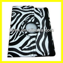 Rotating Magnetic Leather Case for the new iPad 3 2 4 Smart Cover PU Leather Cases Accessories Stylish Zebra Pinto New Black