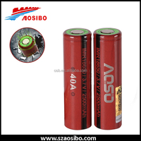 2016 vape mechanical mod battery imr 18650 40a 2500mah aosibo li-ion mod battery