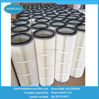 Polyester dust filter cartridge material filter spray booth