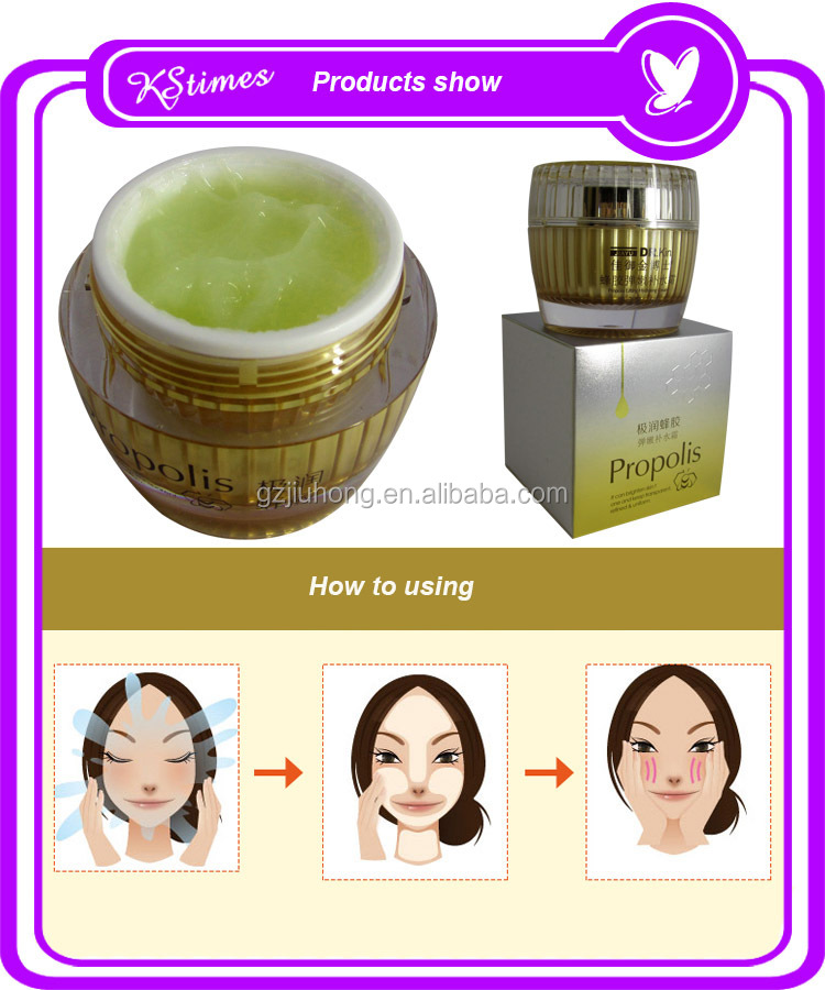 New arrival propolis deeply moisturizing hydrating honey rich hyaluronic acid face hydrating moisturizing cream