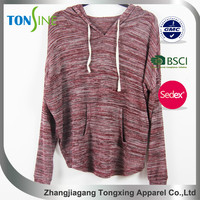 woman's Wine red Wear rope Cap Pullovers