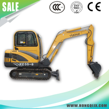 High efficiency 3.5T Yuchai engine mini crawler hydraulic excavator.