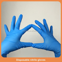 Surgical supplies wholesale blue colored vacuum packed disposable powder free nitrile examination gloves