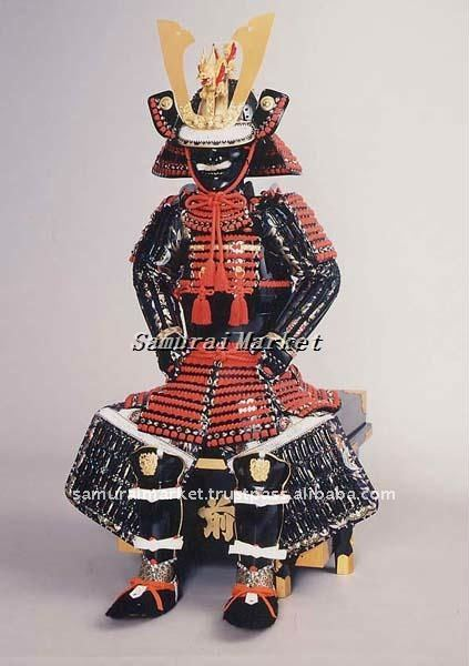Authentic Japanese Child Armor:Aka-Iyozane Armor&Helmet
