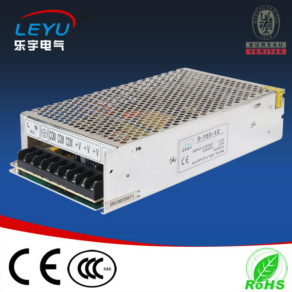 CE RoHS 150w S-150-15 single output 110v/220V ac to 15V dc transformer