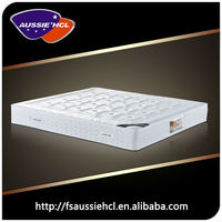 Pocket spring compressed bed mattress