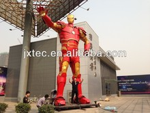 Chinese Manual 2.8 meters high Iron Man sculpture fashion Iron Art Metal crafts