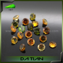 Natural gemstone good quanlity diamond cut mixture color tourmaline