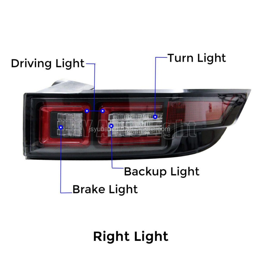 Alibaba website rear led tail lights for cars for evoque 2015-2016