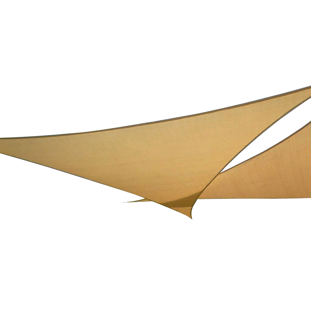 Polyester coated PU Outdoor waterproof <strong>sun</strong> shade sail triangle