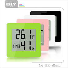 Unique Desk or Wall Mount All-in-One Digital Alarm Clock / Thermometer / Calendar