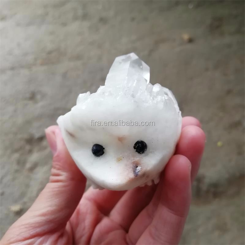 Best Price Natural Hand Carved Cute Beautiful Crystal Quartz Crystal Hedgehog Figurines For Gift