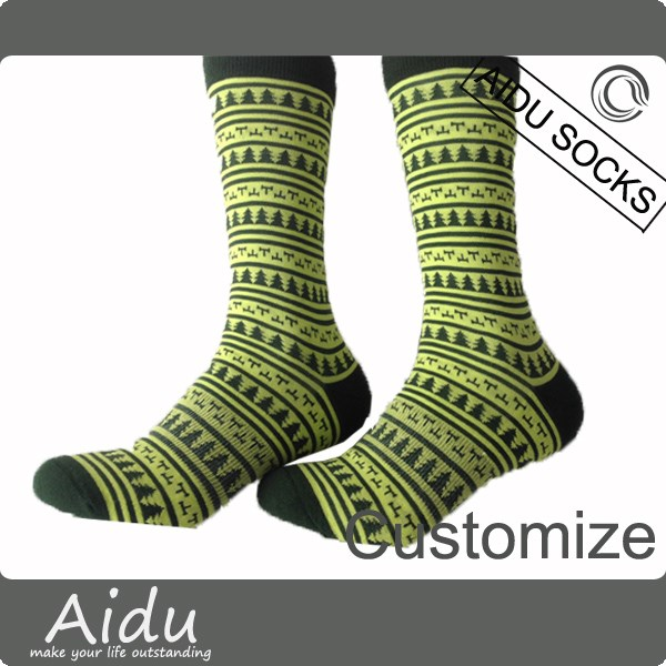 100% Combed Cotton Bird Pattern Design Sock OEM Socks Compression Socks