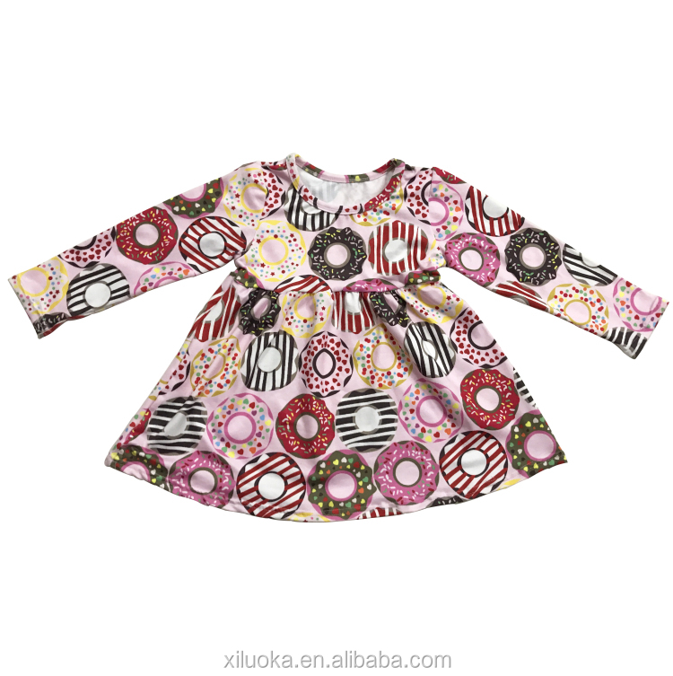 Birthday Baby Dress Pictures Cotton Clothing Long Sleeve Dress