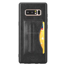 Luxury Slim Mobile Phone Back Cover Leather Back Case for Galaxy Note8 case