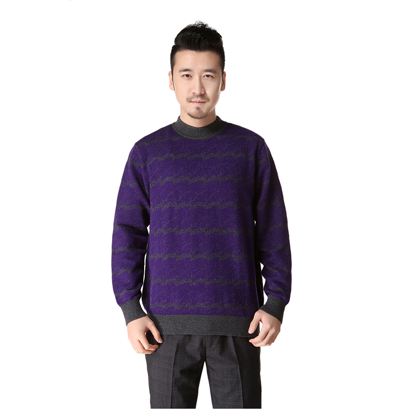 latest winter cashmere stripe knit pullover sweater designs for men