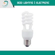 factory direct hot sale half spiral 9W cfl/energy save lamp