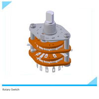 oven selector switch/2 pole 4 position rotary switch/binary coded rotary switch