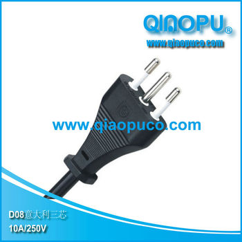 Italy power cord and plug