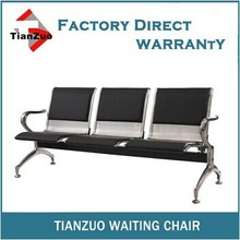 WL500-03FS Cheap PU padding 3 seat bench waiting seat for hospital