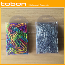 pvc box packing round metal or vinyl paper clip