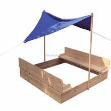 Wooden Sandbox playground Kids Sandpit with UV protected canopy