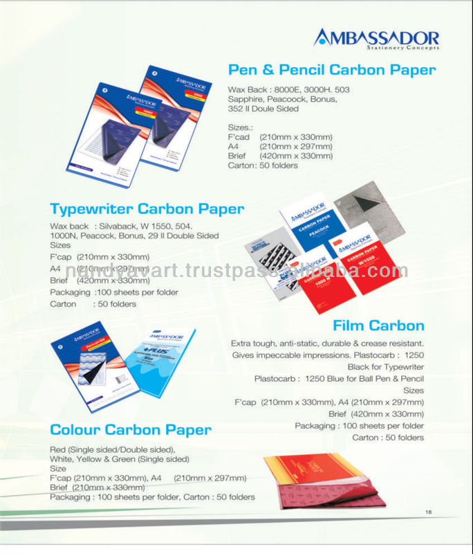 Stationery carbon paper