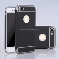 3 in 1 detchable mobile phone accessories hard PC back cover ase for iPhone 7