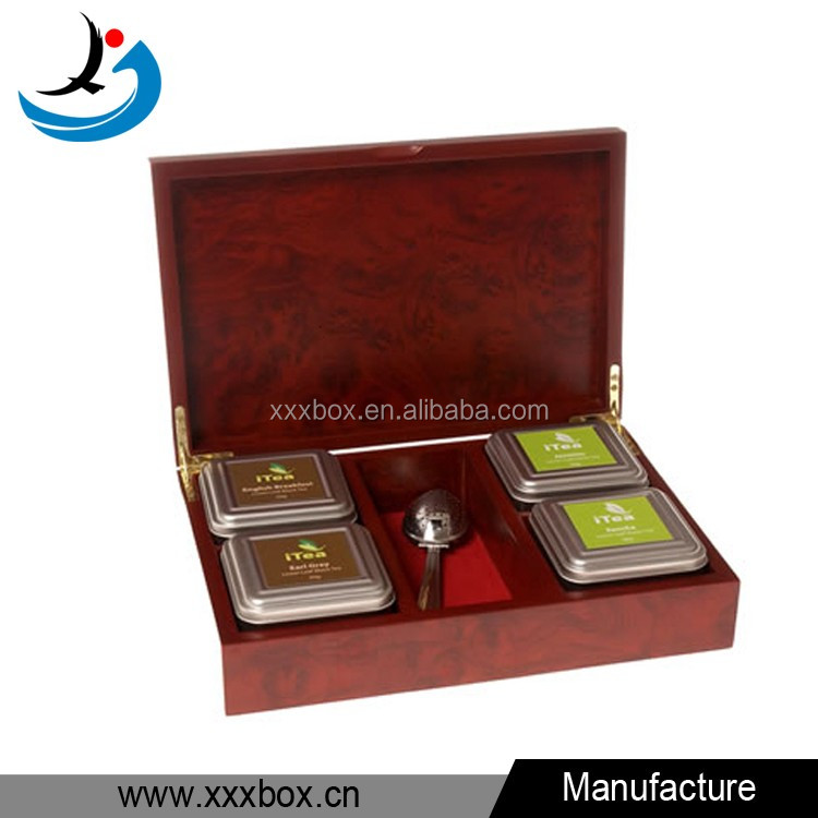 Customized handmade hot sale luxury tea box wooden chest