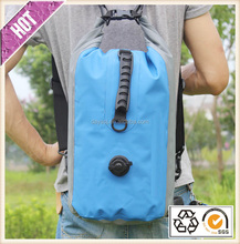 Chinese factory customize tarpaulin bag pack with shoulder straps for outdoor hiking