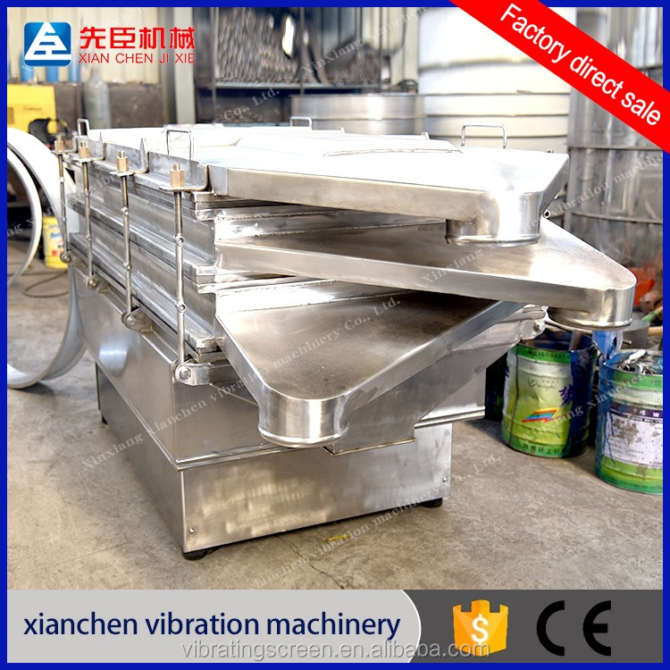 High productivity linear vibration screen for chemical fertilizer