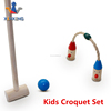 wooden Cartoon croquet Sports 2 Player Croquet Set for kids play backyard game child golf gate ball