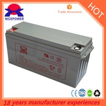 agm deep cycle solar battery 12v 150ah silicon gel battery price
