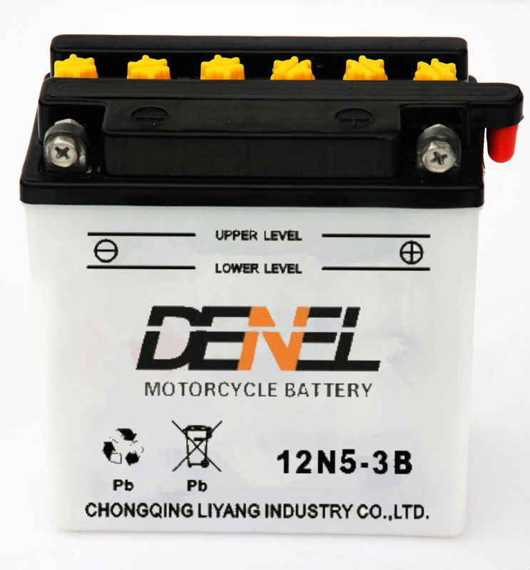 motorcycle party-battery there wheel scooter battery supplier 12 v5ah sealed motorcycle battery