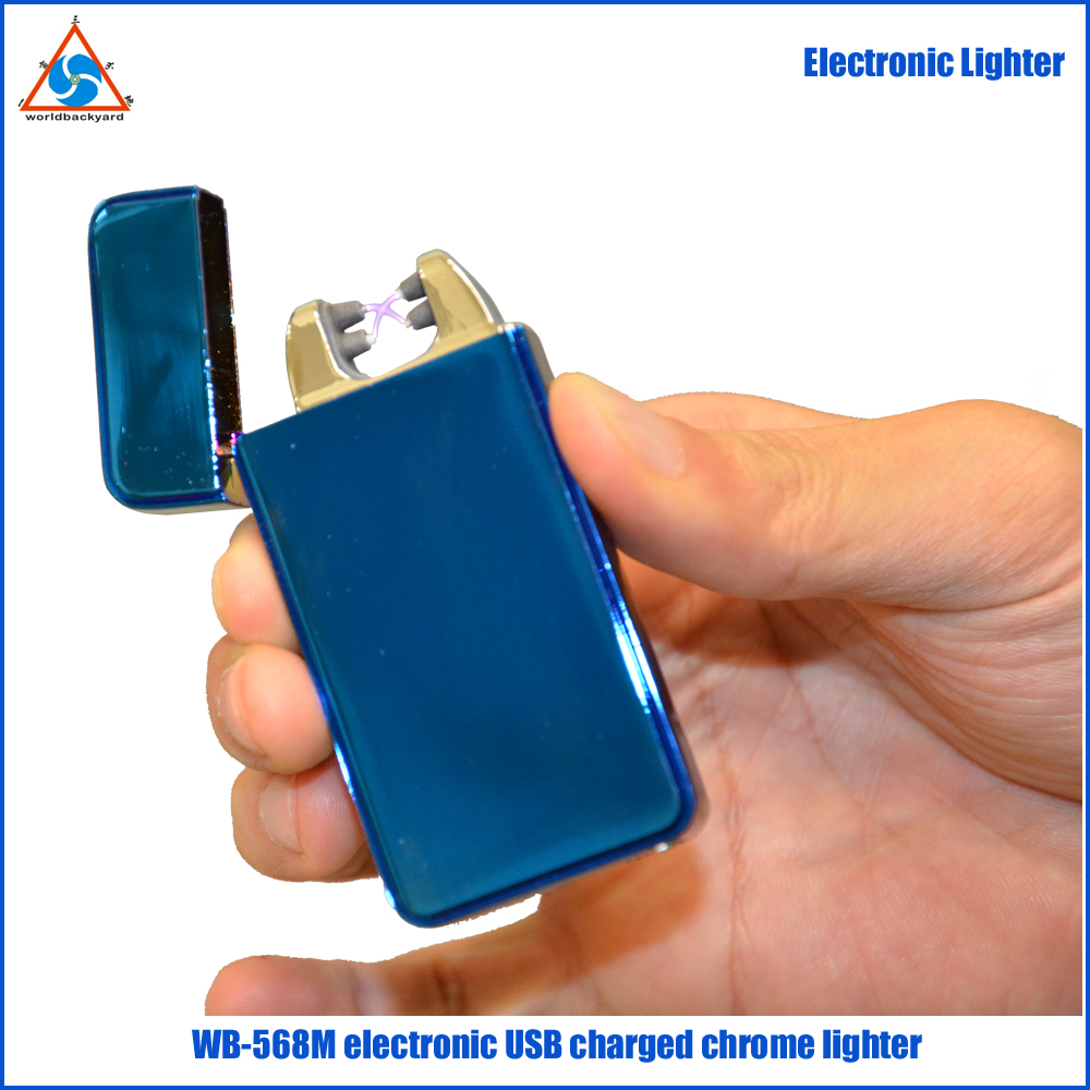 WB568M Crystal Surface double arc Electronic USB charged Lighter with Customer Logo